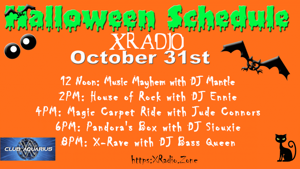 XRadio Halloween Schedule 2020
